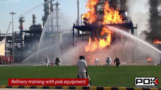 POK firefighting equipment refinery training