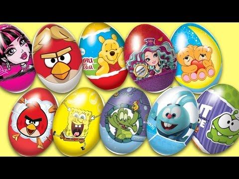 Видео: Сюрпризы 20 шоколадных яиц сюрпризов  Киндер сюрпризы  Игрушкин ТВ