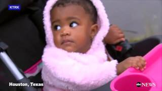 Baby Rescued from Houston Flooding | ABC News