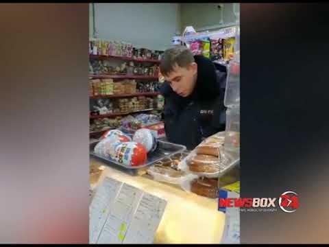 В Приморье полиция проверяет видео про пьяного гаишника в магазине