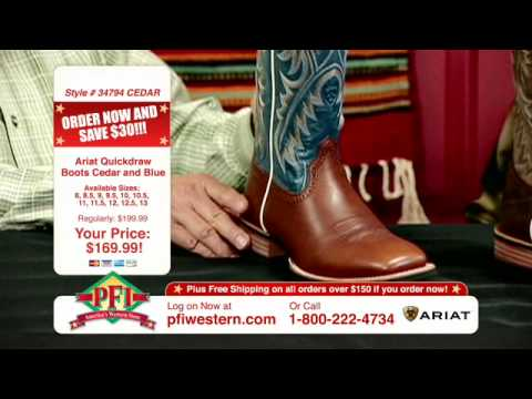 Cowboy Boots Ariat Quickdraw Western Boots - YouTube