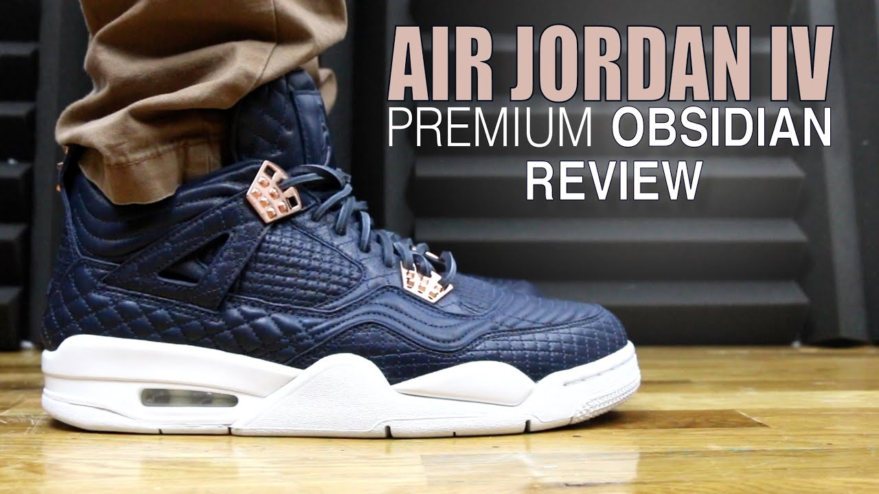 109819886c6401 AIR JORDAN 4 PINNACLE PREMIUM OBSIDIAN - YouTube