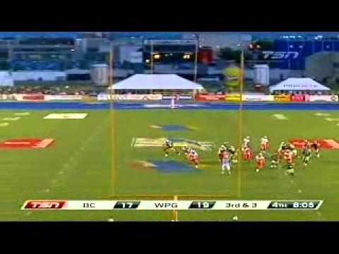 CFL 2011 BC Lions vs Winnipeg