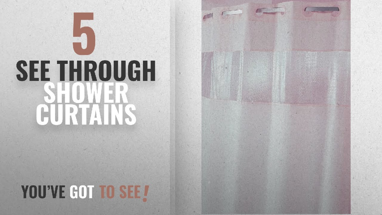 Top 10 See Through Shower Curtains 2018 Hampton Inn Hilton Hotels Exclusive Hookless Washable