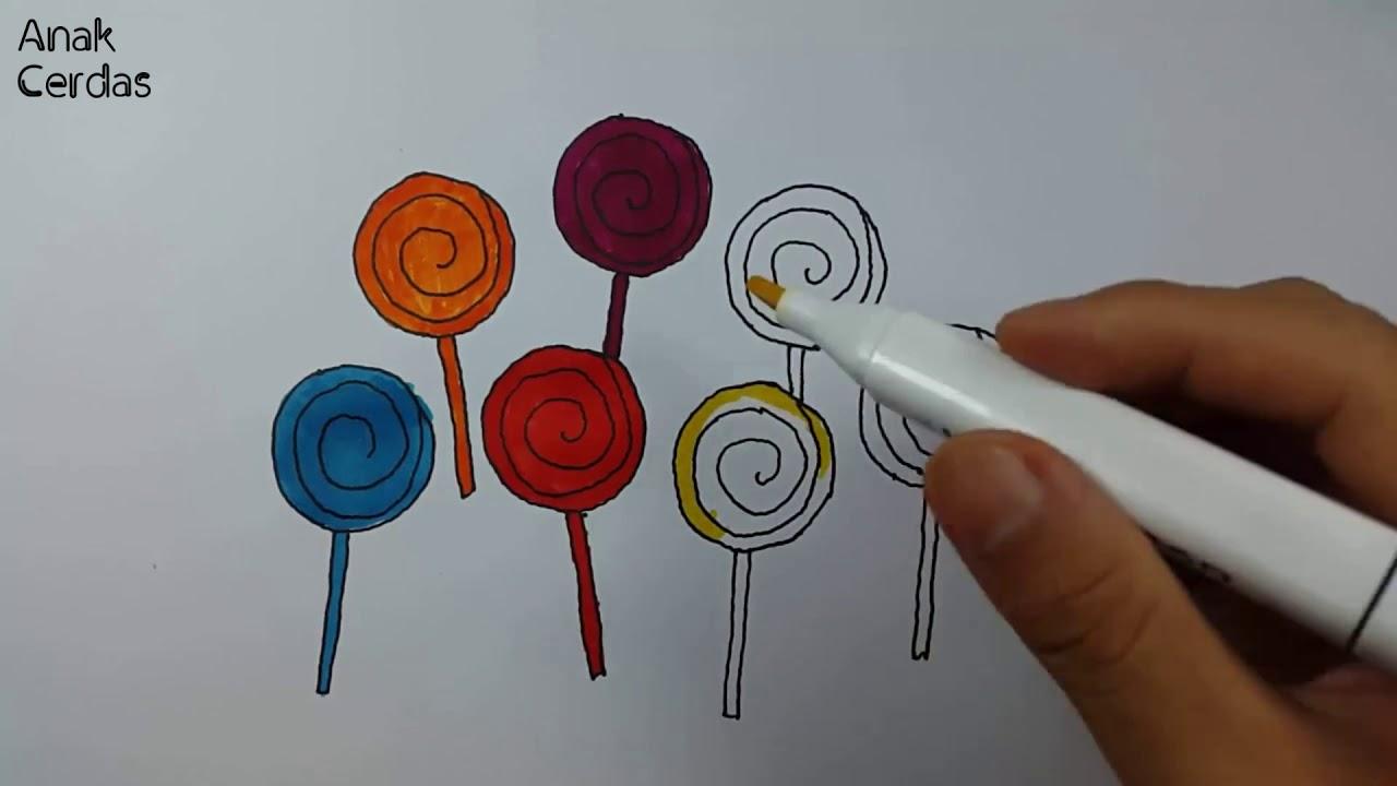 Belajar Menggambar Dan Mewarnai Permen Youtube