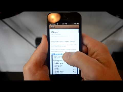 Tether iPhone Without Jailbreak on IOS 6 iPhone 4, 4S, 5 Free Using iRinger