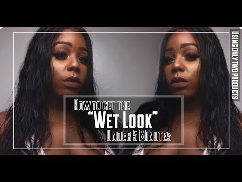 How To Get The Wet Hair Look Under 5 Minutes L Kim Kardashian Wet
