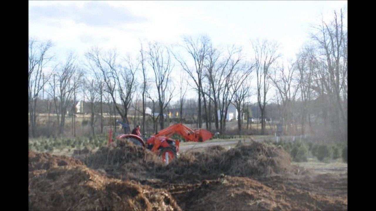 Preparing a Field to Replant With Christmas Trees - YouTube