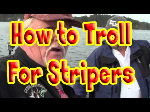 Trolling for Stripers on Storm Thurmond Lake ( Clarks Hill lake )