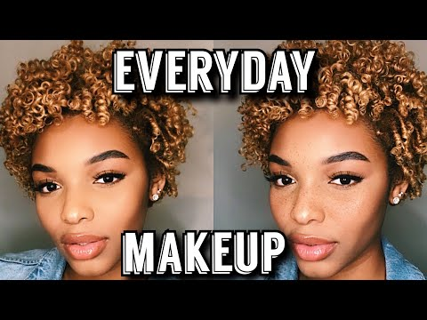 EVERYDAY MAKEUP TUTORIAL | NATURAL NO FOUNDATION MAKEUP LOOK FOR WOC | Flawhs