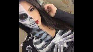 Maquillaje De Calavera Para Halloween O Día De Muertos Video Más
