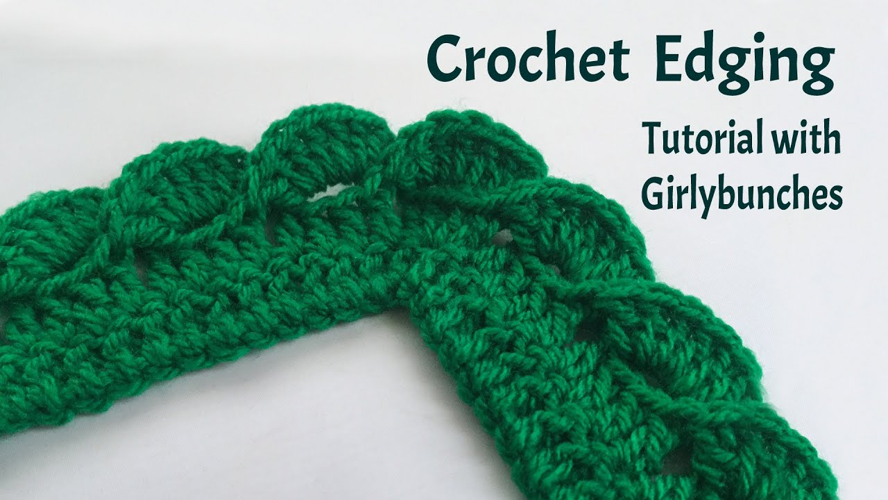 Crochet Wave Fan Edging Tutorial Girlybunches Youtube
