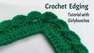 Crochet Wave Fan Edging - Tutorial   Girlybunches