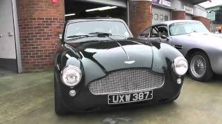 Aston Martin DB4 and DB5 at Brands Hatch circuit