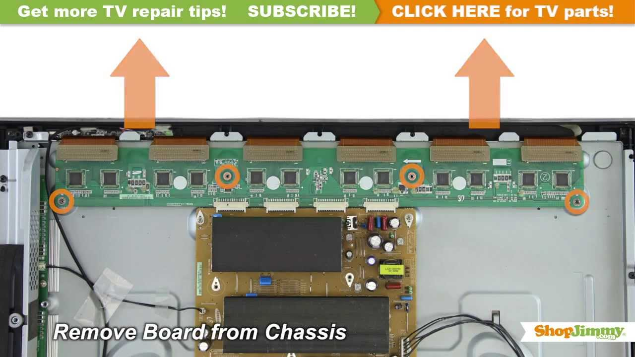 Samsung BN96-12956A Y-Buffer Boards Replacement Guide for Samsung Plasma TV  Repair