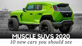 Top 10 Muscle SUVs with the Most Powerful Engines of Today (New and Best Models Ranking)