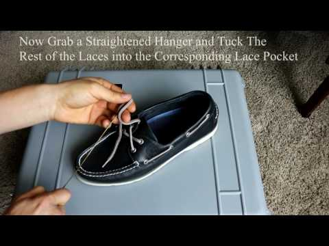 How To Tuck Sperry Laces