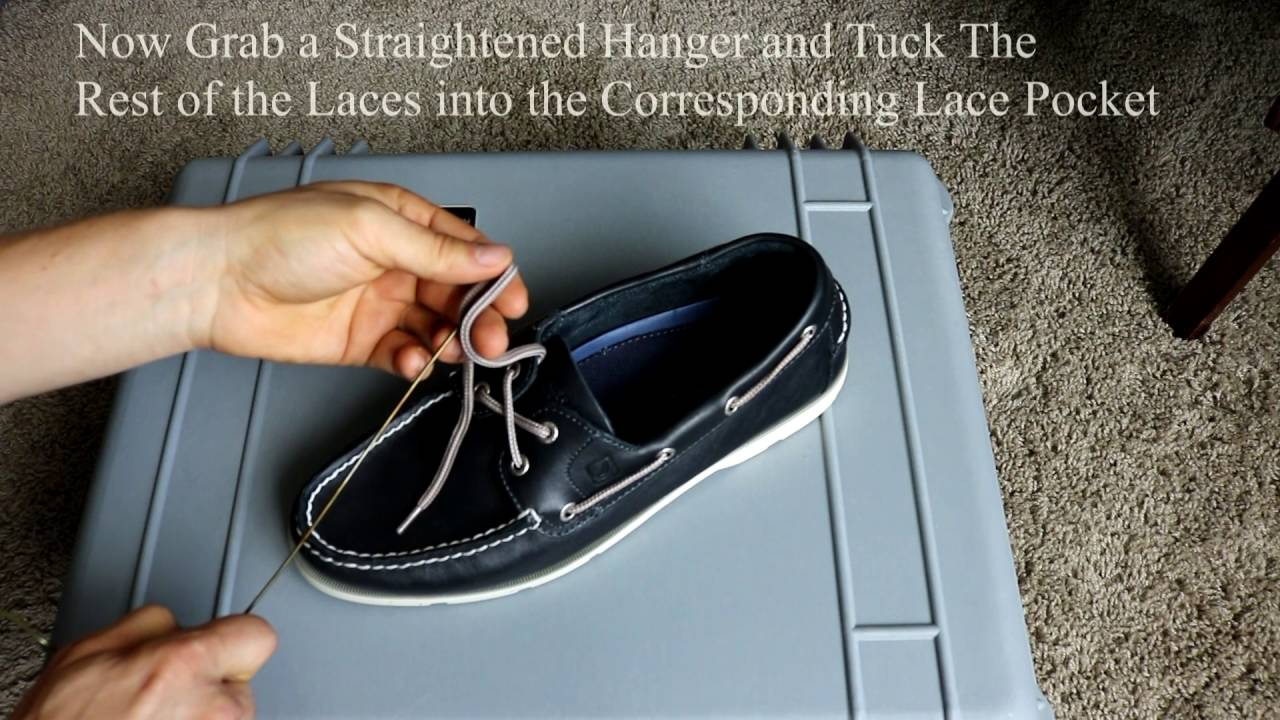 How To Tuck Sperry Laces - YouTube