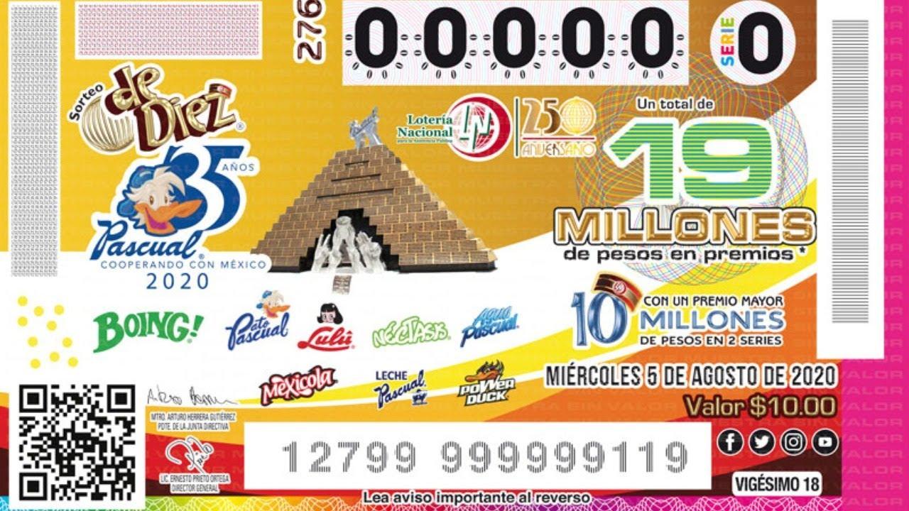 Sorteo De Diez No.276   Conmemorando el 35 Aniversario de la Cooperativa Pascual