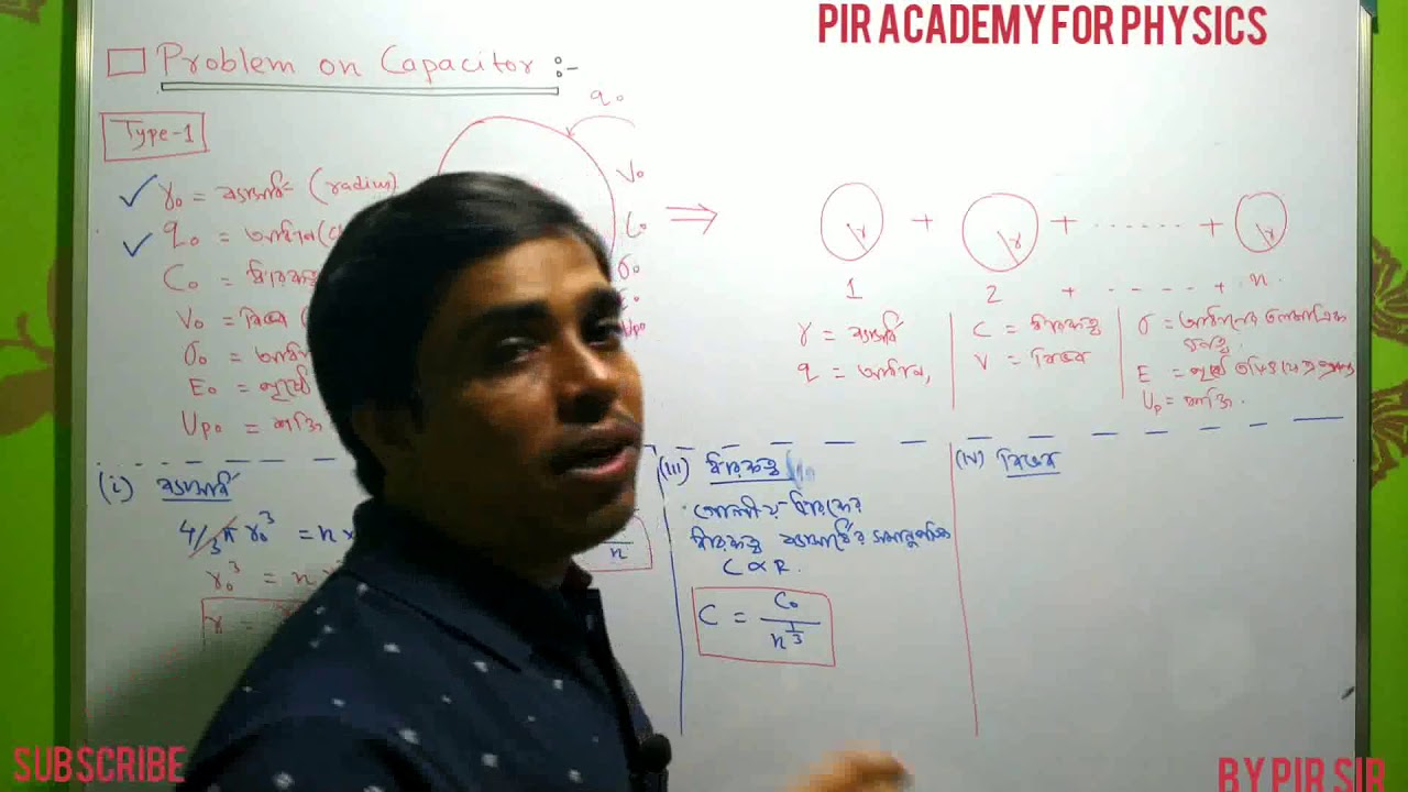 capacitor, problem part-1 for class 12,NEET , IITJEE/Physics by pir sir