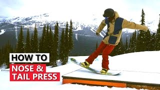 Nose & Tail Presses on Boxes - Snowboarding Tricks Tutorial