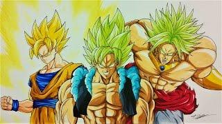 Drawing BROKU | Goku & Broly FUSION | Dragonball Z | TolgArt