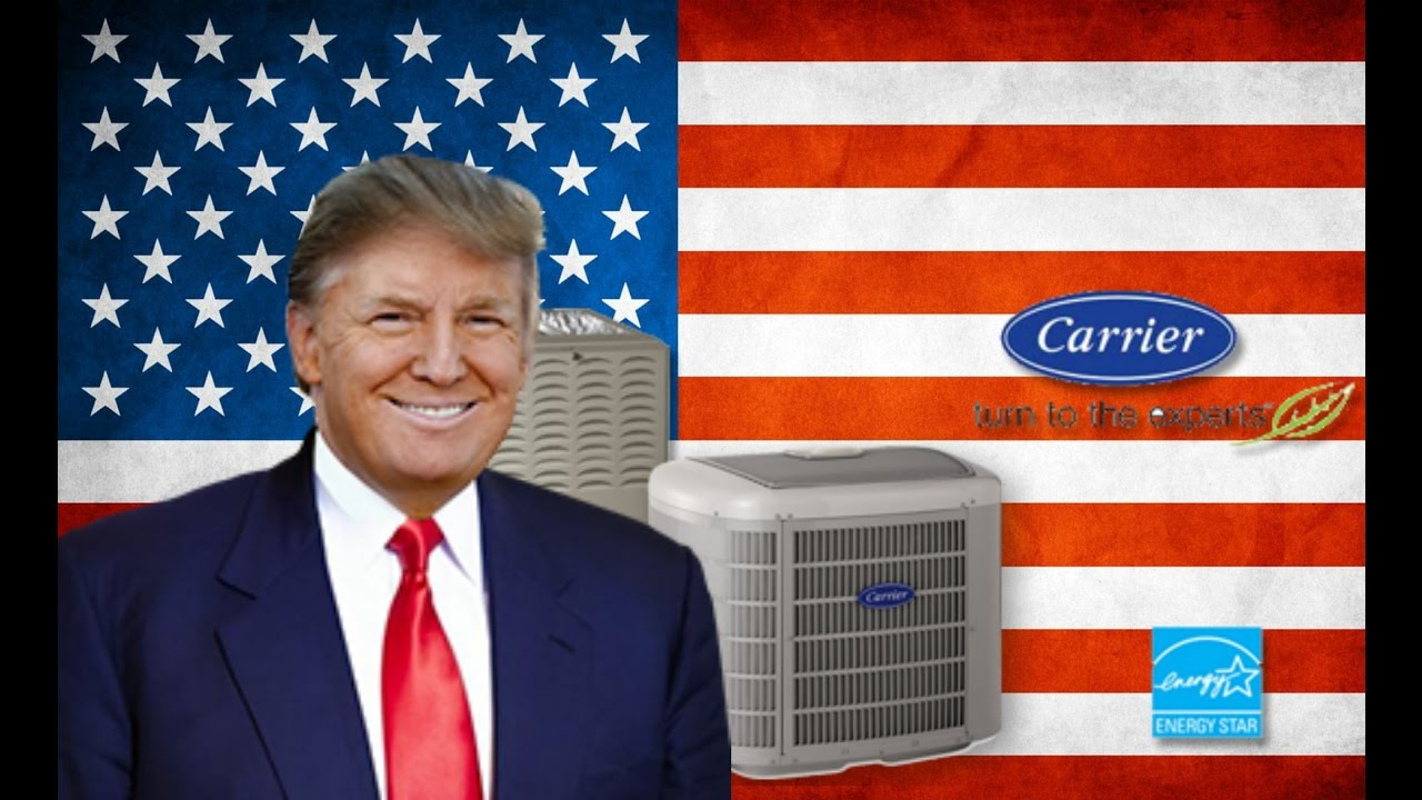 breaking news: carrier air conditioning will stay in the us