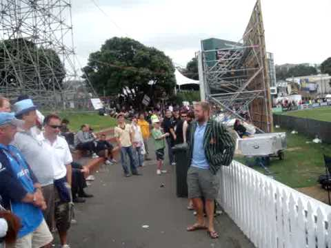 """Barmy Army in wellington 2008  - """"jesse Ryder"""" Part 2"""