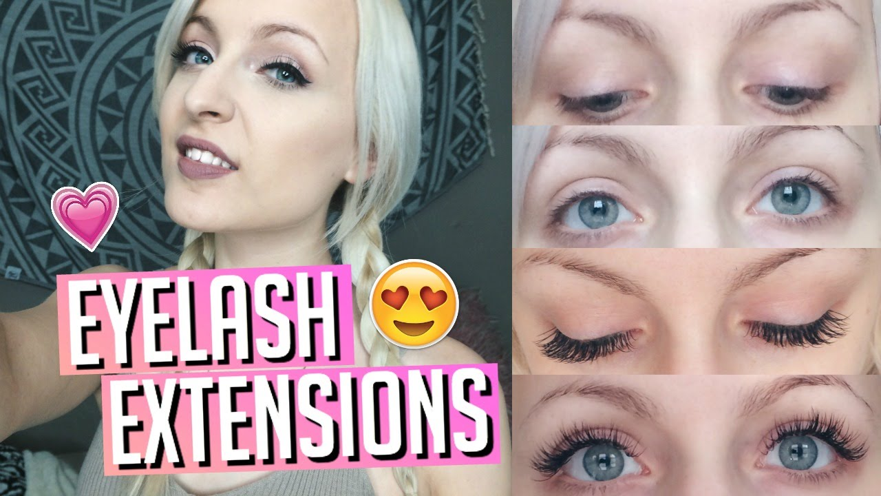 Eyelash Extensions Before After Review Faq Youtube