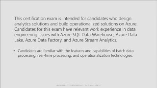 Cert Exam Prep: Exam 70-776: Engineering Data with Microsoft Cloud Services