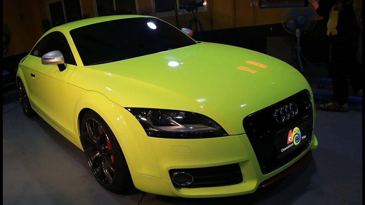 Chameleon Sprayfilm Audi Tt Spray Film For Vehicle Fluorescent Yellow