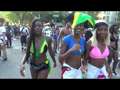 JAMAICAN BRITISH LONDON BLACK GIRL AT WEST INDIAN CARIBBEAN ISLANDS CARNIVAL PARADE 2018