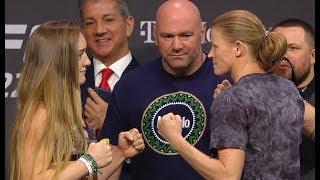 Aspen Ladd vs. Tonya Evinger - Weigh-in Face-Off - (UFC 229: Khabib vs. McGregor) - /r/WMMA
