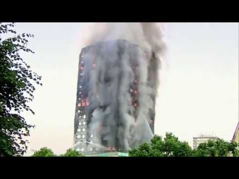 London tower block fire Flames engulf Grenfell Tower LONDON MASSIVE BUILDING FIRE Multiple People