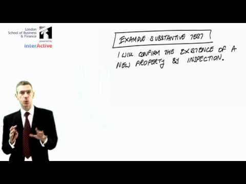 LSBF - ACCA F8: Audit & Assurance, Key Facts on Substantive Tests