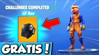 "❌FREE ""LIL KEV"" BACK ACCESSOIRE!😱 NEW CHALLENGES in FORTNITE!"