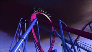 Kings Island Banshee Offride POV HD Animation Roller Coaster New For 2014! World's Longest Inverted