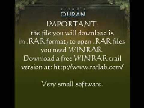Download complete Quran (in mp3) with just 1 click