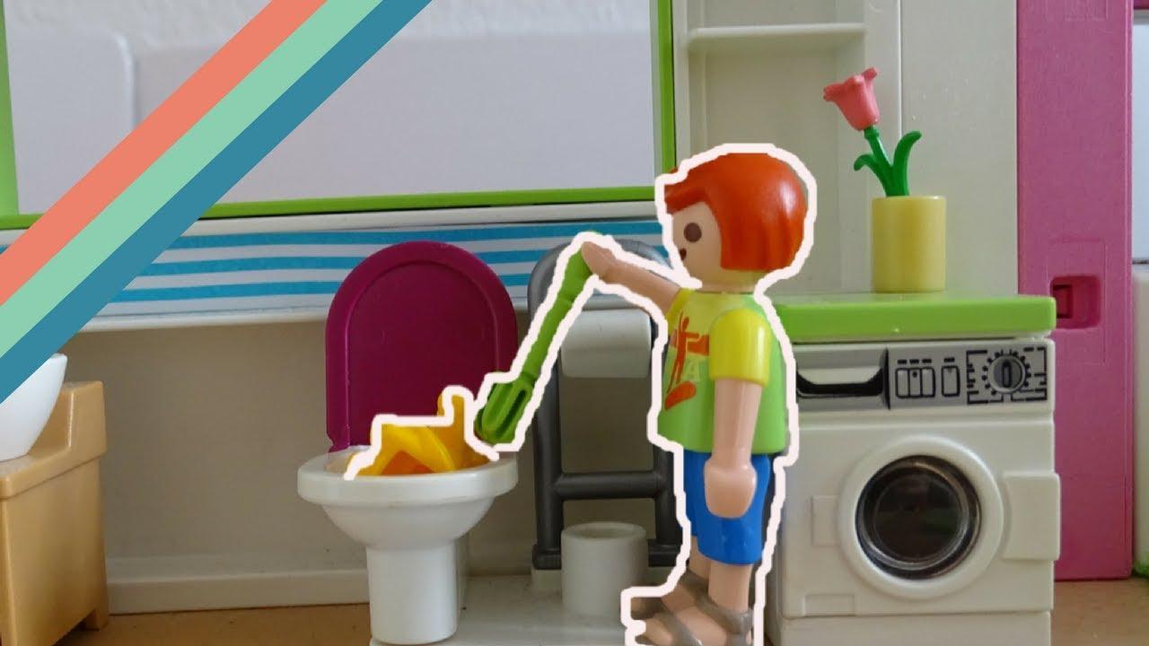 Playmobil film deutsch - PUPPE IM KLO !!! - PlaymoStudios
