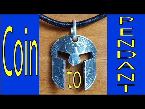 Quarter turned into a spartan mask pendant diy for Spartan mask template