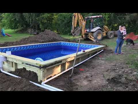 DIY Wood In ground Swimming Pool