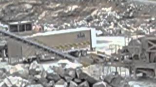 2011 kpi jci astec rock crusher screener circuit with cat 980h loader cat 345bl excavator