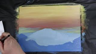 (12) Easy Landscape Painting for Beginners / Acrylic Painting Technique