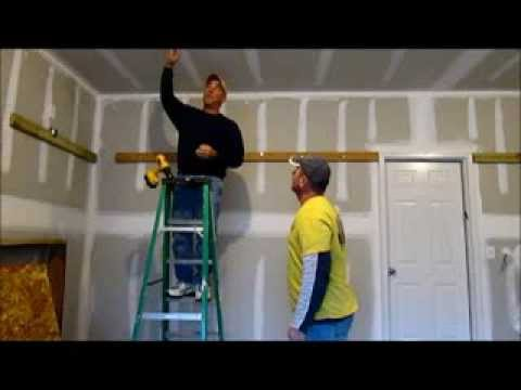 How to install storage shelves in your garage youtube for Diy garage storage loft