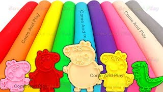 Learn Colors with Play Doh Modelling Clay and Family Molds