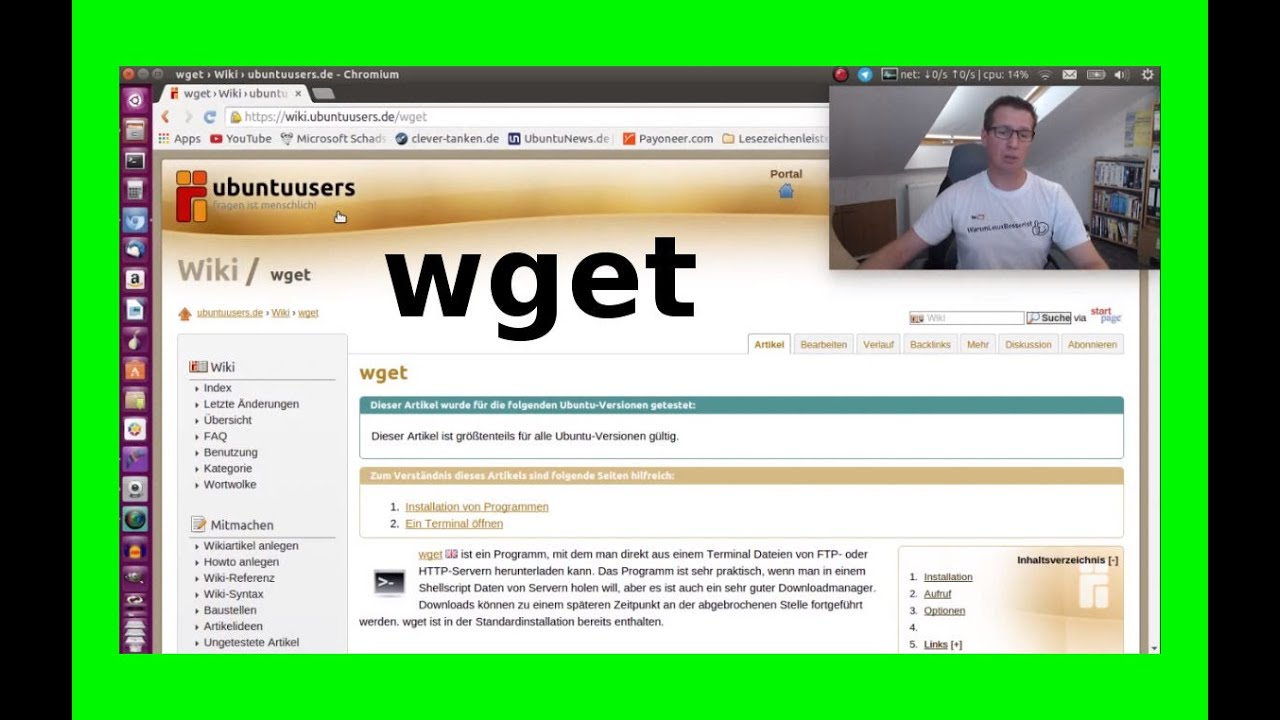 wget ganze website