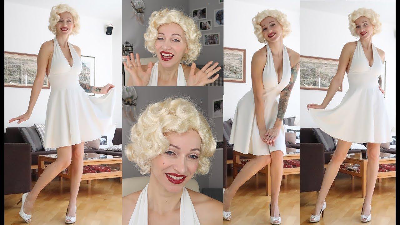 DIY Marilyn Monroe Costume Halloween 2017 - YouTube
