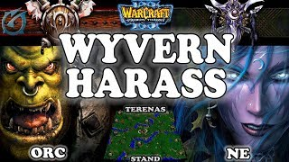 Grubby | Warcraft 3 TFT | 1.29 | ORC v NE on Terenas Stand - Wyvern Harass