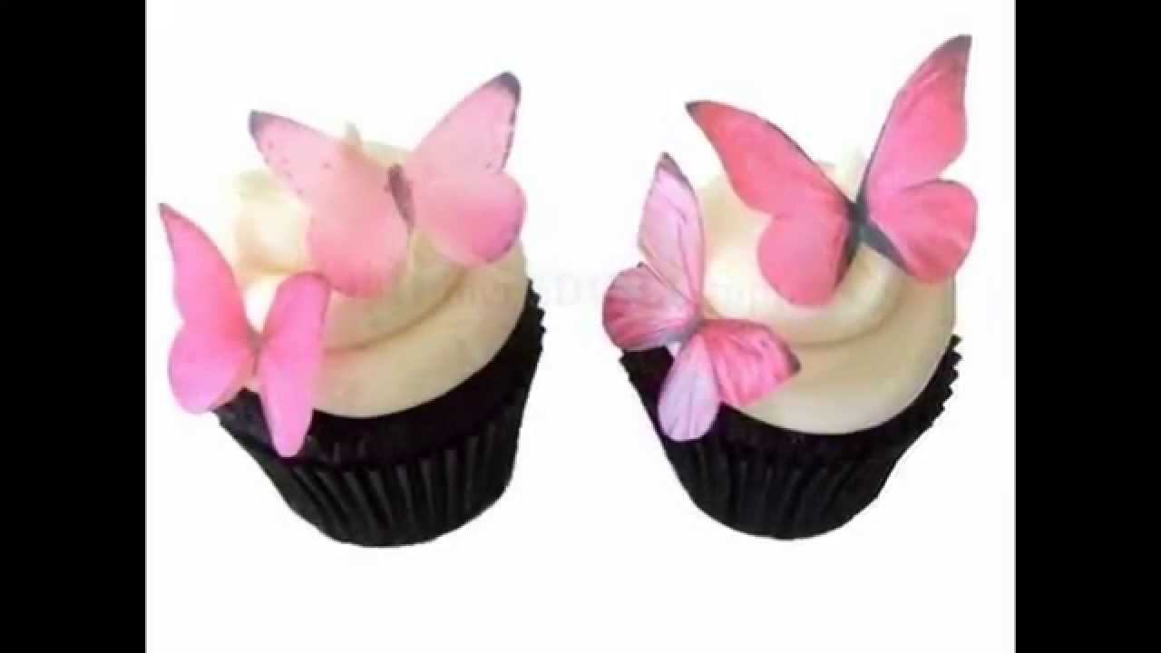 How To Make Edible Butterfly Cake Decorations