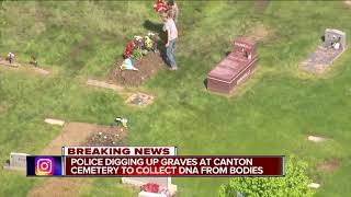 FBI, Detroit police dig for DNA samples at Canton cemetery in missing persons investigation